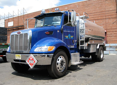 Truck to collect used oils in New Jersey and New York